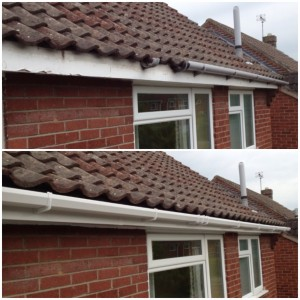 Replacing Cast Iron Guttering To Plastic Effect Guttering